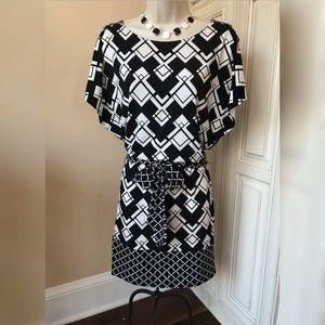 White House Black Market Belted Dress - XS